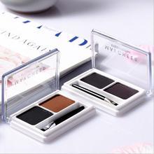 MAYCHEER, 2 цвета, пудра для бровей, палитра для макияжа, водостойкий тени для бровей, усилитель, косметическая кисть, коробка для зеркал, набор ин...