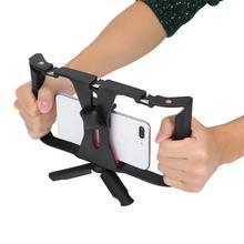 Dual Hanlde Adjustable Handheld Phone Stabilizer Smartphone Video Rig Filmmaking Case with 1/4