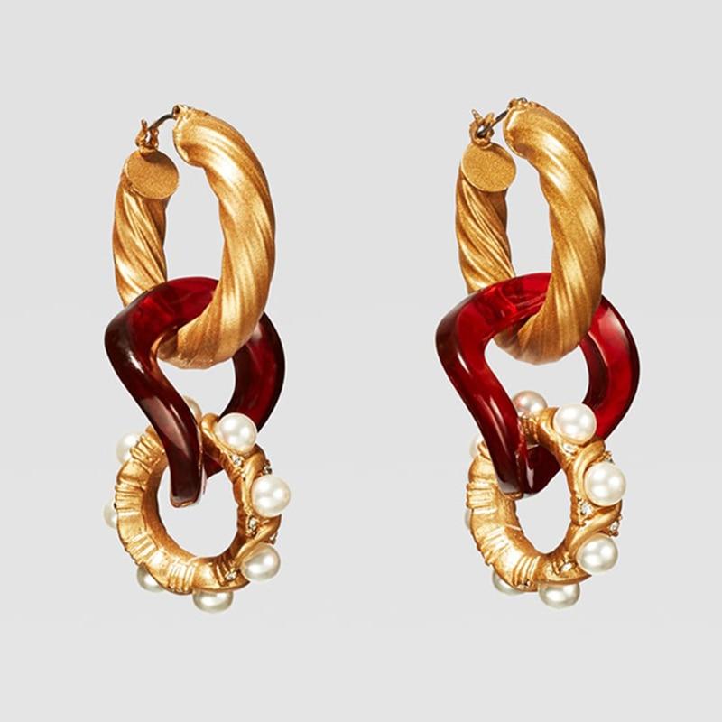 Dvacaman ZA, золотое ожерелье на цепочке, Чокеры для женщин, металлическое круглое звено, массивное ожерелье, s макси панк, модные вечерние ювелирные изделия - Окраска металла: 16