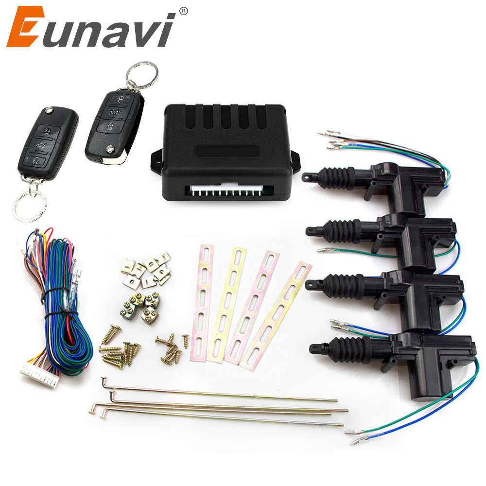 Eunavi Universal Car Power Door Lock Actuator 12 Volt Motor 4 Pack Car Auto Remote 4 Door Bracket Keyless Entry System Aliexpress
