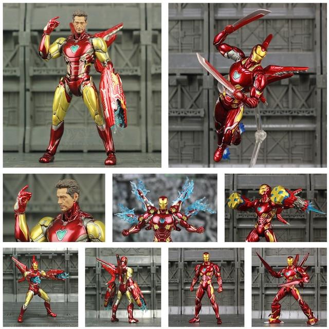 "Iron Man 6"" Action Figure Ironman Nano MK50 MK85 MK47 Mark 50 85 46 47 Tony Stark Legends KOs SHF Avenger Endgame Toys Doll"