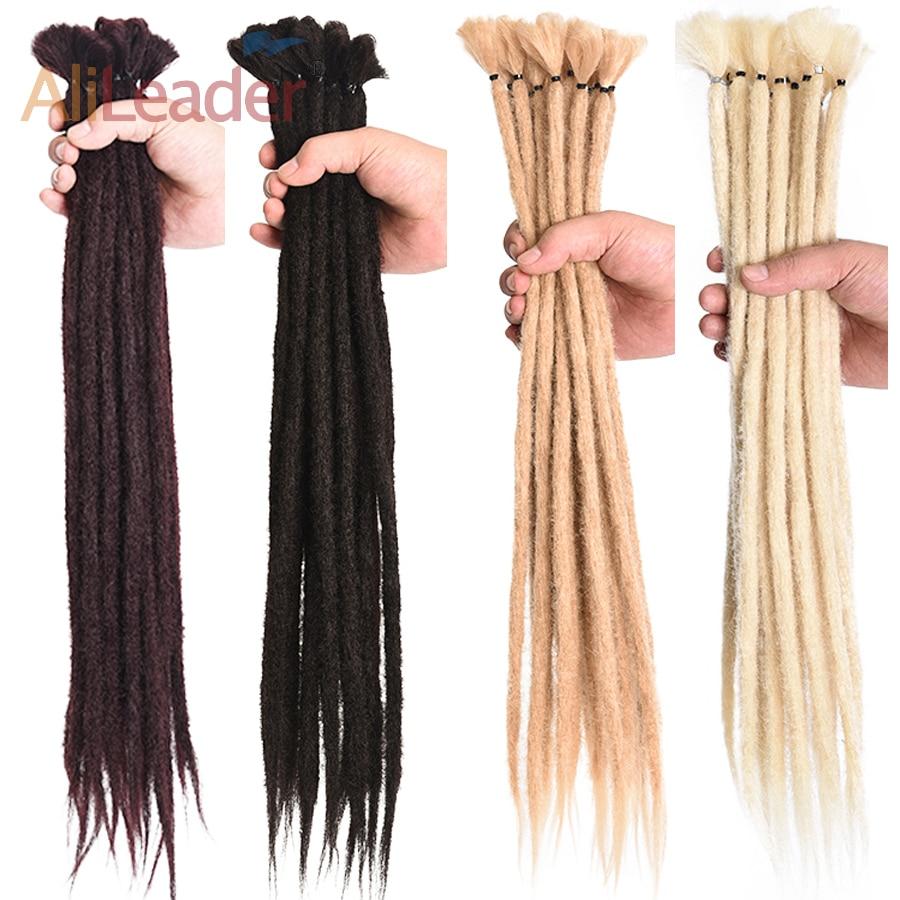 Alileader 17 видов цветов 5/10 пряди дредов удлинитель волос для женщин дреды ручной работы синтетические плетеные волосы вязанные крючком косы ст...