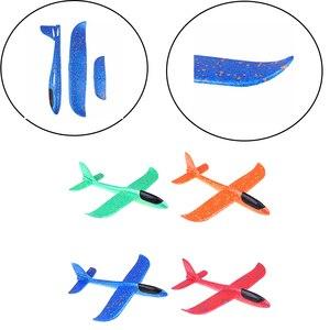 Пенопластовый ручной Самолет EPP, открытый Планер для запуска самолета, Детская Подарочная игрушка 37 см, интересные игрушки