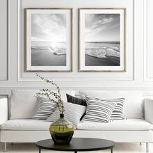 Современное настенное искусство морской пейзаж Пляжная живопись