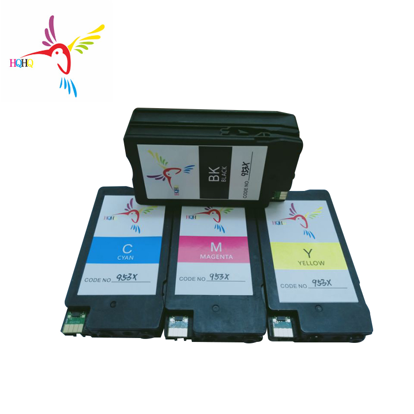 HQHQ Remanufactured Ink Cartridge For <font><b>HP</b></font> <font><b>953</b></font> 953XL For <font><b>HP</b></font> OfficeJet Pro 7740 8720 8730 8210 8710 Printer 953xl ink cartridge image