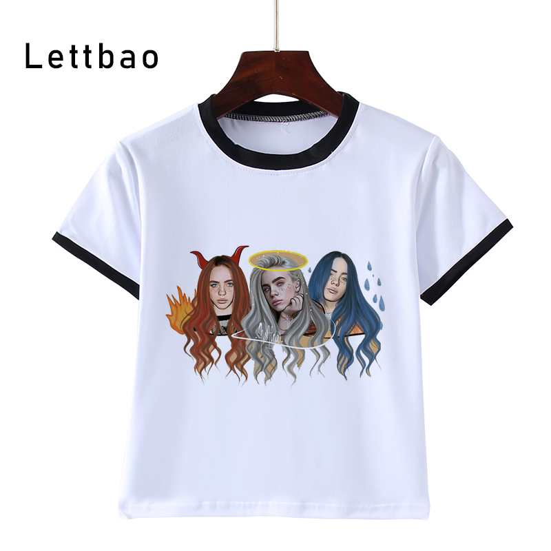 Cartoon Children'S T-Shirt Summer Soft Boys Billie Eilish Hot T Shirt Tshirt For Kid