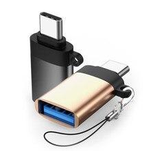 Adaptateur USB C Type C vers USB 3.0 adaptateur type-c câble OTG pour Macbook pro Air Samsung S10 S9 S8 Huawei P30 USBC câble OTG