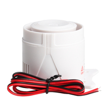 Mini klaxon de sirène filaire blanc 120DB DC12V pour les accessoires dalarme de système de sécurité dalarme à la maison sans fil longueur de ligne 59cm