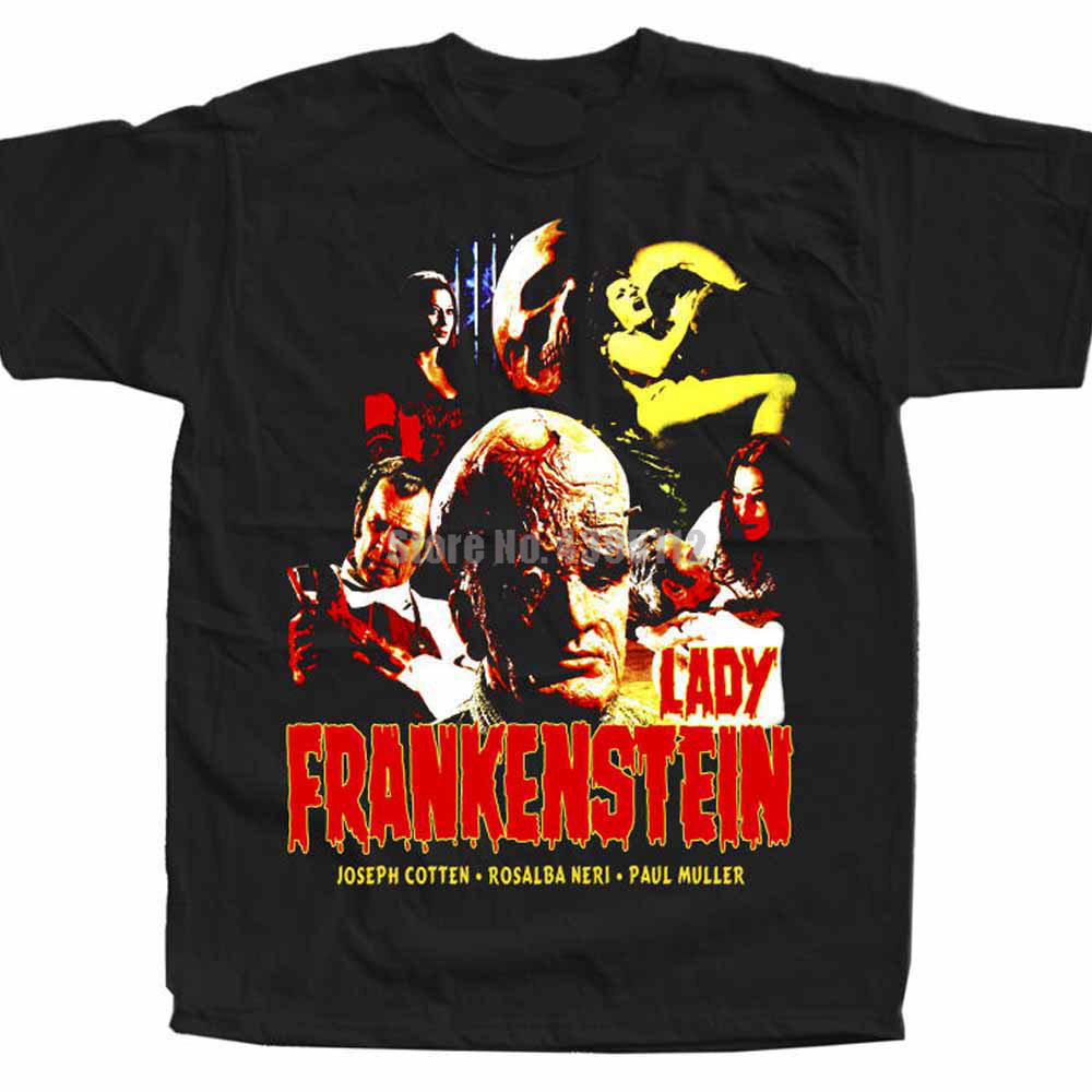 Lady Frankenstein Movie Men'S Streetwear T Shirts Gym T Shirts Harajuku Tshirt Hip Hop T-Shirt Cool Things Ducbsg image