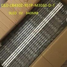 Tira conduzida Luz de Fundo para Aoc 43s5295 43PFG5813 43PFG5813/78 43PFF5292 CEJJ-LB430Z-9S1P-M3030-D-1 9LED 840 MILÍMETROS