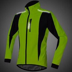 Exclusive! Ironride Men Winter Thermal Cycling Jacket Windproof Waterproof Warm Bike Jacket MTB Bicycle Clothing Reflective