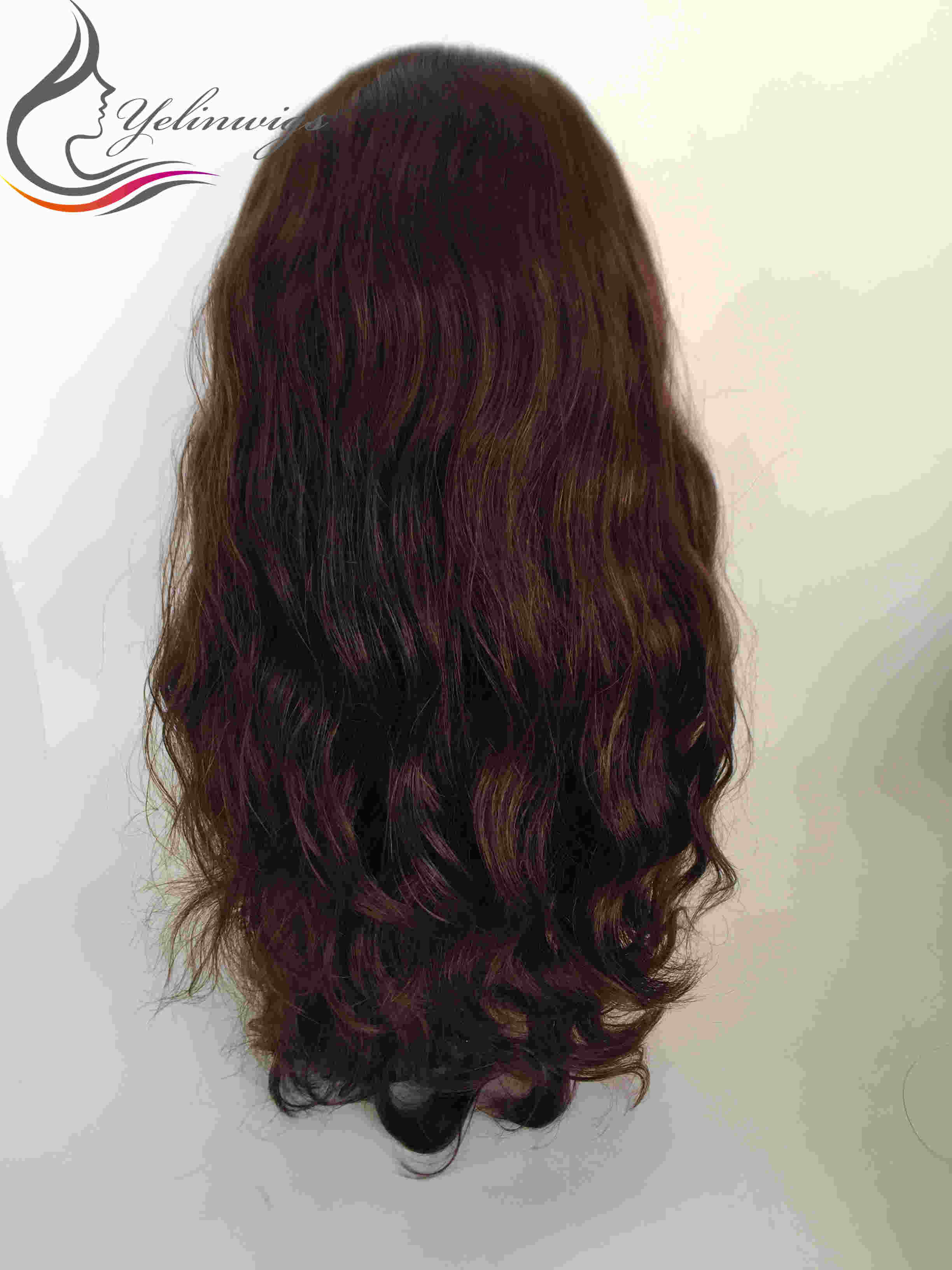 Stock Brazilian Hair Virgin Hair Jewish Cap Wig Kosher Wigs 4x4 Silk Top Wavy Hair Jewish Wig