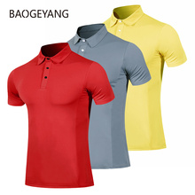 2021 Summer golf clothing men's golf shirt short sleeve t shirt quick-drying breathable Golf wear Casual sportswear red