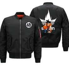 Dragon Ball Z Anime Saiyan Jacket Men Motorcycle Biker Thick Coat Autumn Winter 2019 Mens Bomber Jacket Military Jacket Plus 8XL