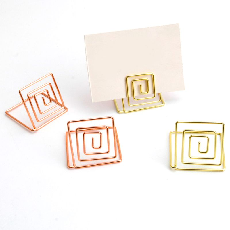 Wire Shape Place Card Holder Stands Table Name Number Holders Paper Menu Picture Memo Note Photo Clip Holder Food Signs for in Card Stock from Office School Supplies