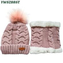Winter Baby Hat set Plush Warm Cap Scarf Infant Hats for Boys Girls Children Scarf-Collars Women Men Caps