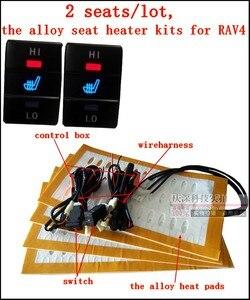 Image 1 - 2 seats/lot,12V,the alloy car seat heater for Toyato RAV4, car heater, car seat heated pads for Toyota RAV4 car heater