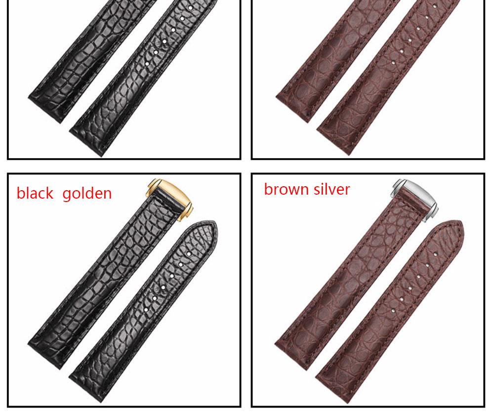 18mm 19mm 20mm 22mm pulseira de couro