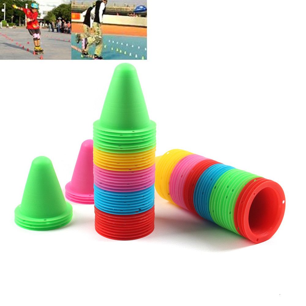 20pcs Agility Maker Cones For Slalom Roller Skating Training Traffic Cone Sports