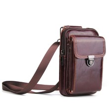 Universal 6.3 inch Leather Phone Bag Small Belt Bag Mobile Phone Bag Case for iPhone/Samsung/Huawei/Xiaomi/with Neck Strap(China)