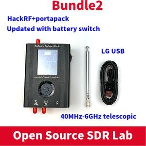 Image 3 - PORTAPACKพร้อมHavocเฟิร์มแวร์กระพริบ + HACKRF ONE 1MHz To 6GHzซอฟต์แวร์SDR De + 1000MAHแบตเตอรี่ + 2.4Touch LCD