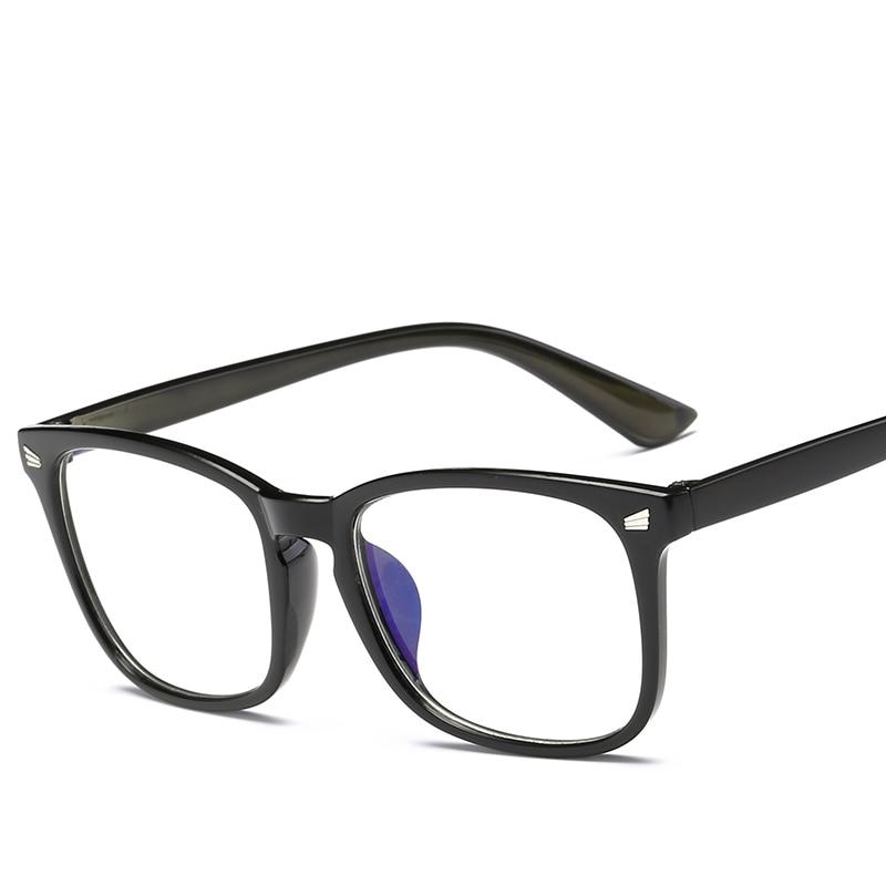 Adult Flat Mirror Women Trend Products Glasses Transparent Lenses Black Frame Plastic Eyeglasses