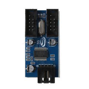 Image 4 - マザーボードのusb 9Pinインタフェースヘッダスプリッタ1 2に延長ケーブルエクステンダアダプタ9ピンusbハブ用pcコンピュータ