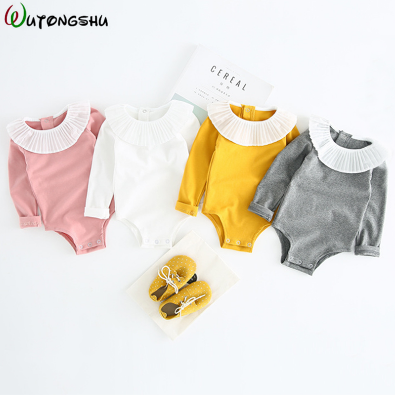 Cute Lace Baby Bodysuits Autumn Spring Newborn Girls Clothing Baby Climbing Suit Baby Jumpsuits Baby Girl Clothes Bebe Body Suit