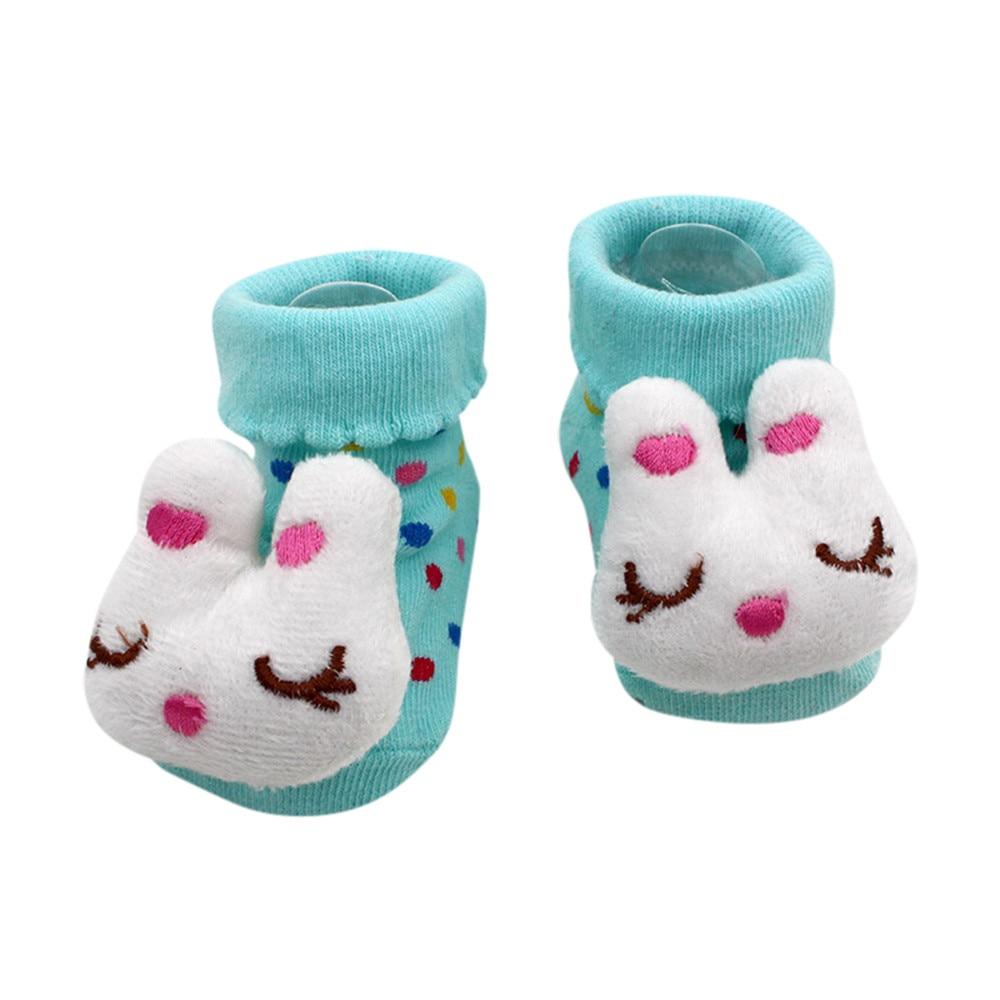 Newborn Baby Anti-Slip Socks Slipper Shoes Boots 0-12 Month Fox Shoes Cute