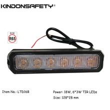 8 шт.! ECE R65 одобренный 3 Вт автомобильный Предупреждение льный фонарь для поверхностного монтажа решетка 14 вспышек мультивольт