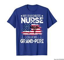 Minha enfermeira favorita me chama grand-pere 4th of julho tshirt