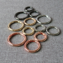 10 pcs Metal spring gate O ring openable keyring car keychain leather bag belt strap chain buckle snap clasp sewing accessories 1pc metal spring gate o ring openable keyring leather bag belt strap buckle dog chain snap clasp clip trigger luggage