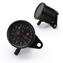 Motorcycle Universal Speedometer 12v Odometer Dual Speedometer LED Indicator Dashboard Suitable For Motorcycle Refit Accessories