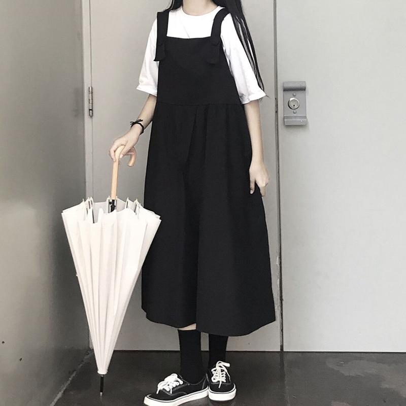 Женская длинная юбка в стиле мори, летняя трапециевидная юбка с подтяжками для французских меньшинств