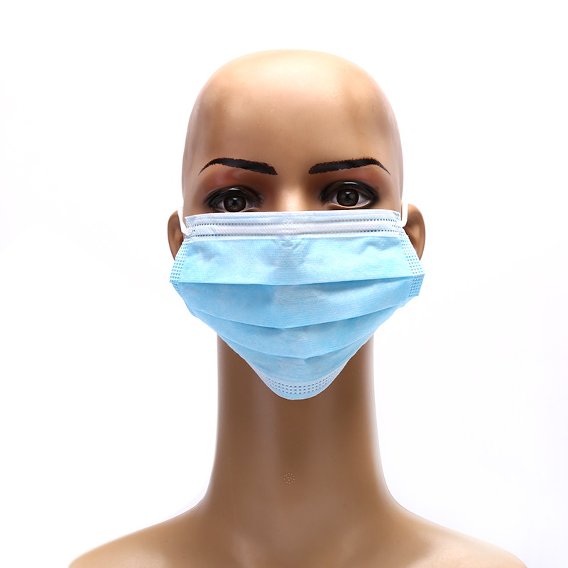Solid Hypoallergenic Face Mouth Masks Anti dust Safe Breathable  Mouth Mask Disposable Anti Dust Surgical Medical Earloops Masks  -