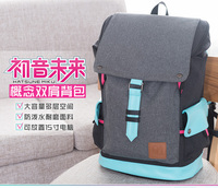 Hatsune Miku Vocaloid Cosplay Bag Sport Backpack School Bag Student Shoulder Bag Anime Miku Cosplay Fashion Backpacks