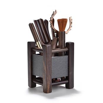 6 sztuk zestaw Handmade ceremonia herbaty zestaw naczyń bambusowe łyżeczki herbaty igły herbaty bambusowe pincety klip Teaware chiny zestawy do herbaty Kung Fu tanie i dobre opinie FGHGF Drewna