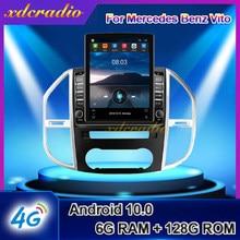 Автомагнитола Xdcradio 9,7 дюймов, вертикальный экран Tesla, Android 10,0, для Mercedes Benz Vito, автомагнитола, мультимедийный плеер, навигация