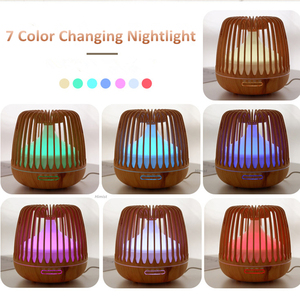 Image 3 - 500ML Aroma Essential Oil Diffuser Ultrasonic Air Humidifier Wood Grain 7 Color Changing LED Light Cool Mist Difusor for Home