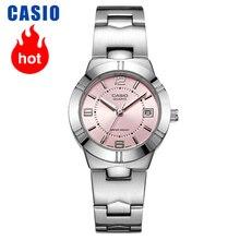 Casio relógio ponteiro série elegante quartzo, relógio feminino LTP 1241D 4A