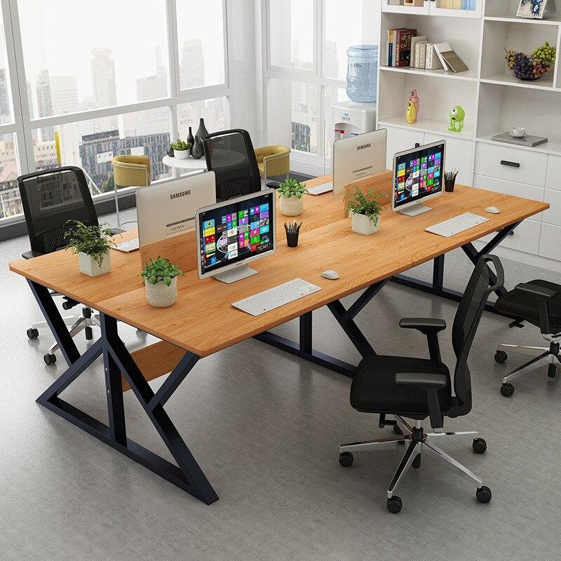 Desktop Computer Desk Minimalist Modern Staff Desk 4 Digit Card Slot Competent Manager Executive Desk Office Furniture