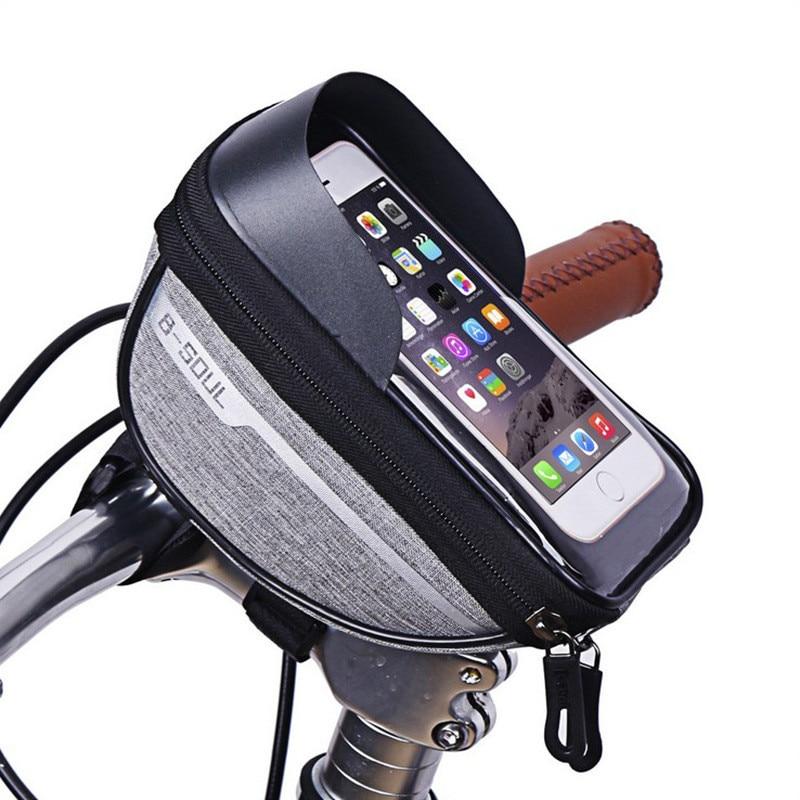 Permalink to Bike Accessories Phone Cycling Bag Bicycle Waterproof Head Tube Handlebar Mobile Cellphone Case Holder Screen Phone Mount Bags