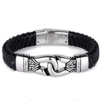 BAG93 18 22.5CM Width 1.25CM 316L Stainless Steel Gold & Silver Plated Bracelet Jewlery Men Gift Jewelry ,Fahion, modern