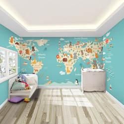Обои с изображением животных для детской комнаты для мальчиков и девочек, теплые Настенные обои для спальни, экологически чистые обои