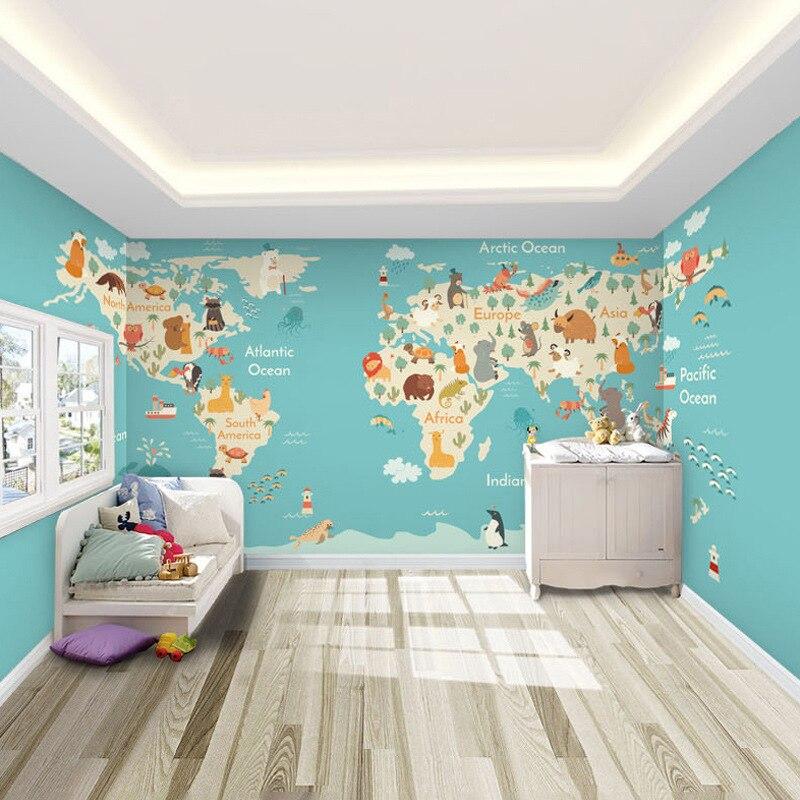 Cartoon Animal CHILDREN'S Room Wallpaper Boys And Girls Bedroom Warm Wall Wallpaper Environmentally Friendly Mural