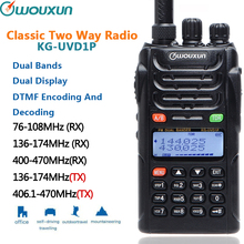 Walkie-Talkie WOUXUN UHF Kg-Uvd1p-Vhf Two-Way-Radio Battery Dual-Bands 1700mah Classic