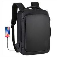 حقيبة كمبيوتر محمول 15.6 بوصة للرجال, حقيبة كمبيوتر محمول تحمل على الظهر ، مقاومة للماء ، مزودة بمنفذ USB ، حقيبة ظهر للسفر ، حقيبة ظهر للرجال 2020