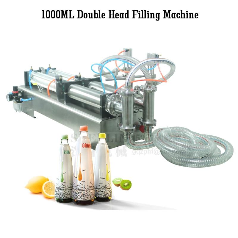 SHENLIN Disinfectant Filling Machine For Liquid Material Pneumatic Food Filler Semi-automatic Cream Filling Machine 300ml