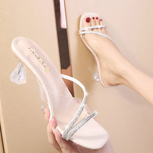 Женские Простые сандалии босоножки на высоком каблуке и тапочки