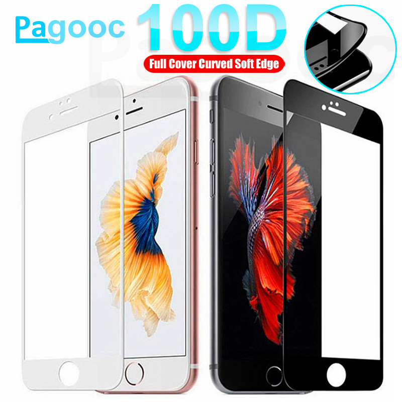 100D Protective Tempered Glass For IPhone 8 6S 7 Plus Screen Protector Glass On IPhone X XR 11 Pro Xs Max Glass IPhone 7 6 Film